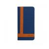 Astrum MC600 TEE PRO mágneszáras Samsung G925F Galaxy S6 EDGE könyvtok kék-barna