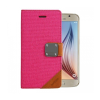 Astrum MC630 MATTE BOOK mágneszáras Samsung G920F Galaxy S6 könyvtok pink