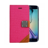 Astrum MC640 MATTE BOOK mágneszáras Samsung G925F Galaxy S6 EDGE könyvtok pink