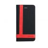 Astrum MC830 TEE PRO mágneszáras Apple iPhone 5G/5S/5SE könyvtok fekete-piros