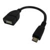 Astrum USB anya - micro USB apa 0.2 méter USB2.0 OTG kábel fekete OD020