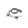 ATEN CS62Z-A7 2 portos USB2.0 KVM switch +audio
