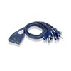 ATEN CS-64US Cable KVM Switch (4 PC, USB, +kábel)