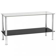 átlátszó edzett üveg dohányzóasztal 110 x 43 x 60 cm bútor