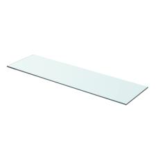 Átlátszó üvegpolc 70x20 cm fürdőszoba kiegészítő