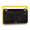 Auna Bebop Ghettoblaster, sárga, USB bluetooth AUX MIC