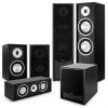 Auna Black Line, fekete, 5.1 házimozi rendszer, hangfal összeállítás