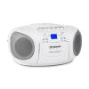 Auna BoomBerry Boom Box, fehér, boombox, hordozható rádió, CD/MP3 lejátszó, kazettás lejátszó