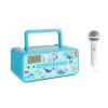 Auna Kidsbox Underwater CD Boombox, CD lejátszó, bluetooth, FM, USB, LED kijelző, türkiz