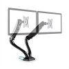 Auna LDT09-C024USB, asztali tartó 2 monitorra, LED, LCD, 2 X USB, szereléshez szükséges anyagok mellékelve
