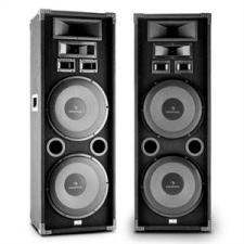 "Auna PA-2200, max. 2000 W, dupla készlet fullrange PA hangfal, 2x12"", basszus hangszóró hangfal"