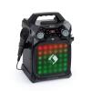 Auna Rockstar LightShow, karaoke készülék, bluetooth, USB, Line-In/Out, 2 x 6,3mm, fekete