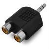 Auna Sztereó RCA csatlakoz pre 3,5 mm Jack adapter