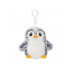 Aurora PomPom pingvin, szürke táskadísz Aurora