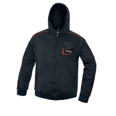 AUST EMERTON kapucnis pulóver fekete XXL