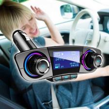 Autórádió formájú Bluetooth FM transzmitter LED kijelzővel fm transzmitter