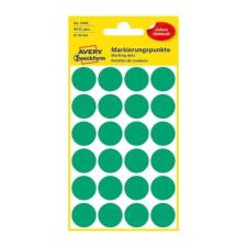 Avery Etikett AVERY 3006 jelölőpont 18mm zöld 96 db/csomag etikett