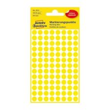 Avery Etikett AVERY 3013 jelölőpont 8mm sárga 416 db/csomag etikett