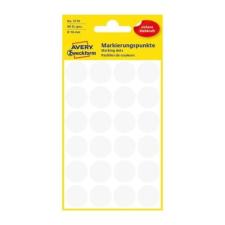 Avery Etikett AVERY 3170 öntapadó jelölőpont fehér 18mm 96 jelölőpont/csomag etikett