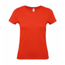 B and C Női rövid ujjú póló B&C #E150 /women T-Shirt -XS, Tűzpiros női póló