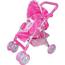 Babakocsi lábtartóval és kosárral - rózsaszín babakocsi