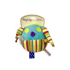 Baby Hug Baby Hug Plüss csörgő labda - színes csíkos - 14 cm plüssfigura