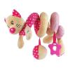 BABY MIX Spirálos játék kiságyra Baby Mix cica rózsaszín | Rózsaszín |