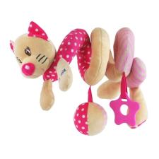 BABY MIX Spirálos játék kiságyra Baby Mix cica rózsaszín | Rózsaszín | bébijáték kiságyra