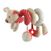 BABY MIX Spirálos játék kiságyra Baby Mix kutyus piros | Piros |