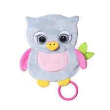 Baby Ono Plüss játék Baby Ono Flat Owl Celeste plüssfigura