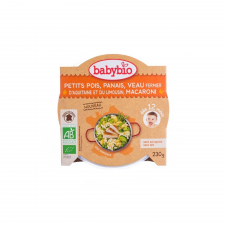 Babybio Bio paszternákos-borsós makaróni borjúval 230 g bébiétel
