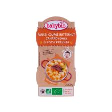 Babybio Bio paszternákos-sütőtökös ínyencség kacsával és polentával 2 x 200 g bébiétel