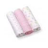 Babyono BabyOno textilpelenka színes 3db 382/05 #Rózsaszín