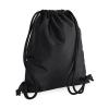 Bag Base Tornazsák tornatáska Hátizsák Bag Base Icon Gymsac - Egy méret, Fekete/fekete