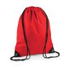 Bag Base Tornazsák tornatáska Hátizsák Bag Base Premium Gymsac - Egy méret, Élénkpiros