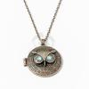 Bagoly medálos nyaklánc kék köves - antikolt jwr-1184