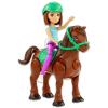 Barbie on the Go: Barna hajú Barbie sötétbarna pónival