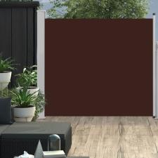 Barna kihúzható oldalsó teraszi napellenző 170 x 300 cm kerti dekoráció