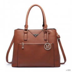 Barna Miss Lulu London LT6611-MISS LULU PU bőr több-zseb bevásárló táska táska kézi táska barna