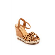 Barna Montonelli Prémium Valódi Bőr női barna magassarkú cipő 38 /kac
