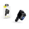 Baseus Baseus Bluetooth FM-transmitter/szivargyújtó töltő - 2xUSB + MP3 - Baseus RH01/S05 - black