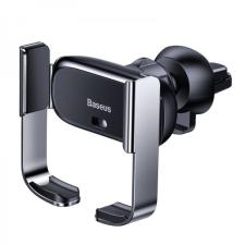 Baseus Baseus Mini Electric automata telefontartó szellőzőrácsra - Fekete mobiltelefon kellék