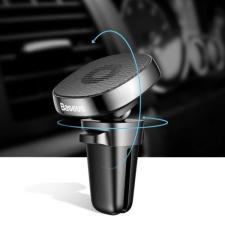 Baseus Baseus Privity valódi bőr mágneses autós telefontartó szellőzőrácsra - Fekete mobiltelefon kellék