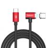 Baseus mágneses USB-C (Thunderbolt 3) töltő kábel - piros