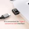 Baseus mini redukció USB-ről USB-C-re töltéshez és adatátvitelhez - fekete
