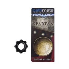 BathMate - Spartan szilikon erekciógyűrű (fekete) péniszgyűrű