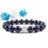BBH Inspirations Swarovski night blue gyöngy karkötő Swarovski AB csillogású kristállyal