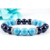 BBH Inspirations Swarovski türkiz - night blue gyöngy karkötő, kristály rondellákkal