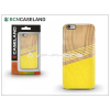 BCN Caseland Apple iPhone 6/6S hátlap - BCN Caseland Wood Lines - yellow