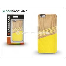 BCN Caseland Apple iPhone 6/6S hátlap - BCN Caseland Wood Lines - yellow tok és táska